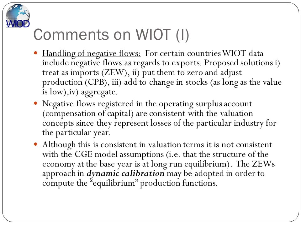 Comments on WIOT (I)