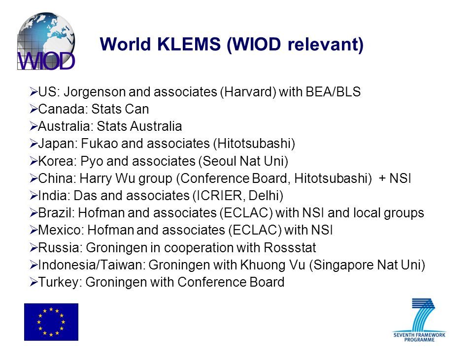World KLEMS (WIOD relevant)