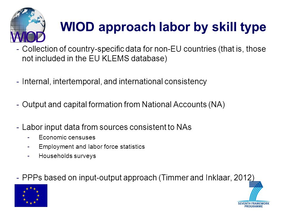 WIOD approach labor by skill type