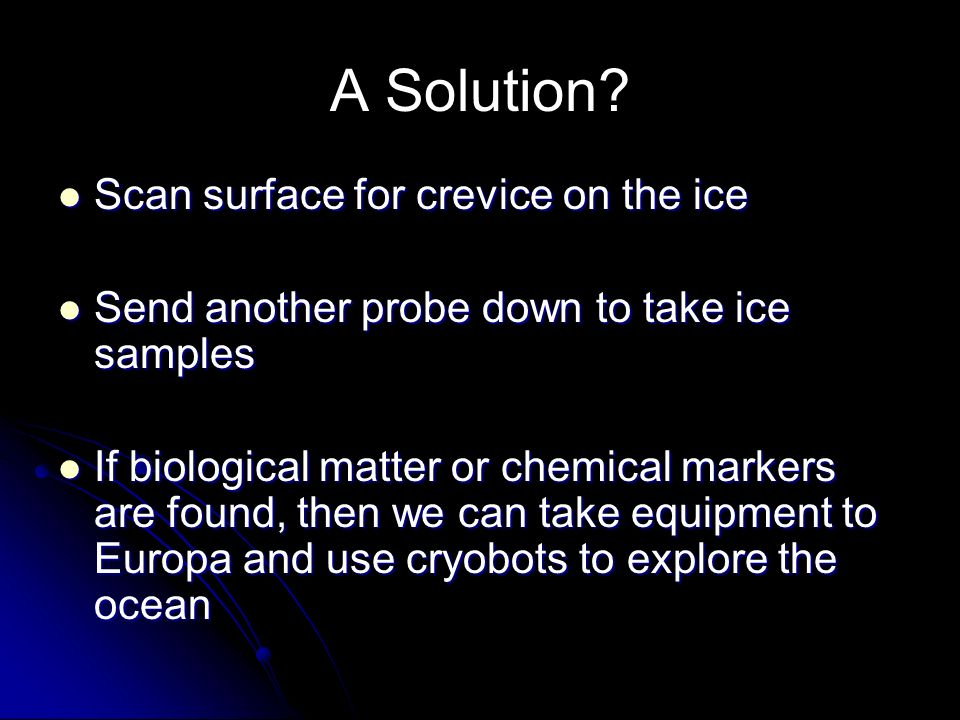 A Solution Scan surface for crevice on the ice