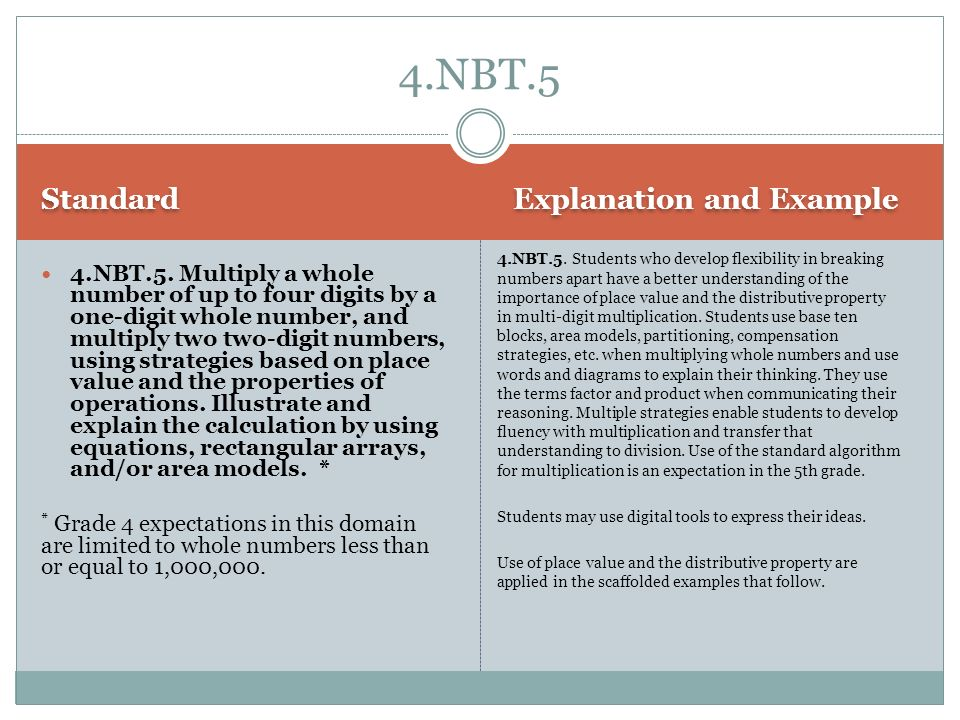 4.NBT.5 Standard Explanation and Example
