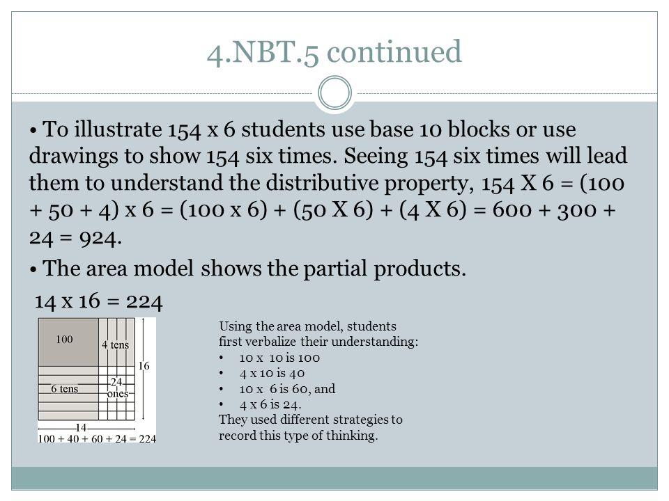 4.NBT.5 continued