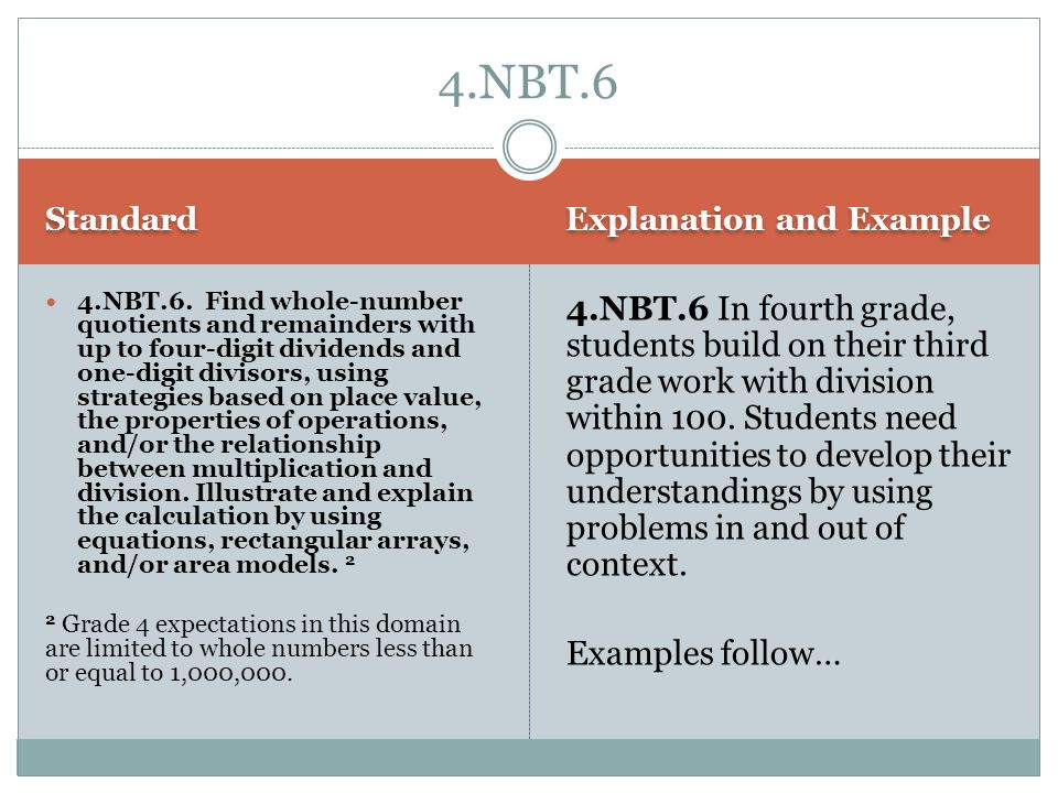 4.NBT.6 Standard. Explanation and Example.