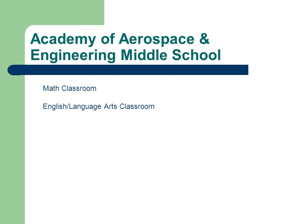 Academy of Aerospace & Engineering Middle School