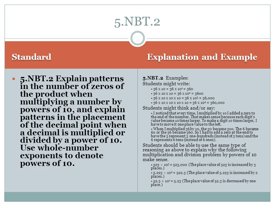 5.NBT.2 Standard Explanation and Example