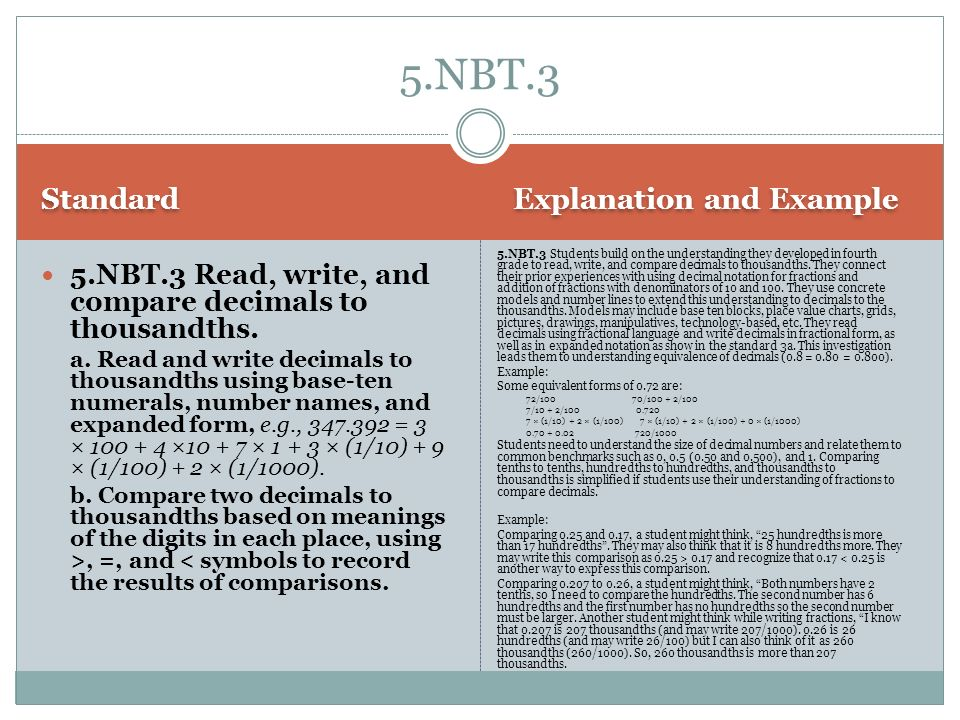 5.NBT.3 Standard Explanation and Example