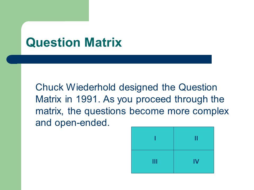 Question Matrix