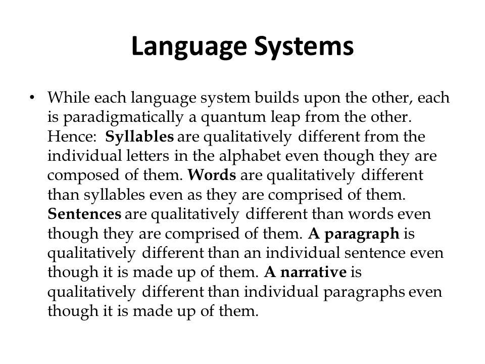 Language Systems