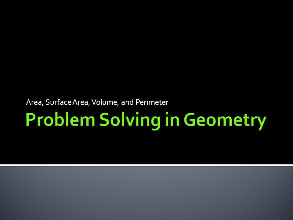 Problem Solving in Geometry