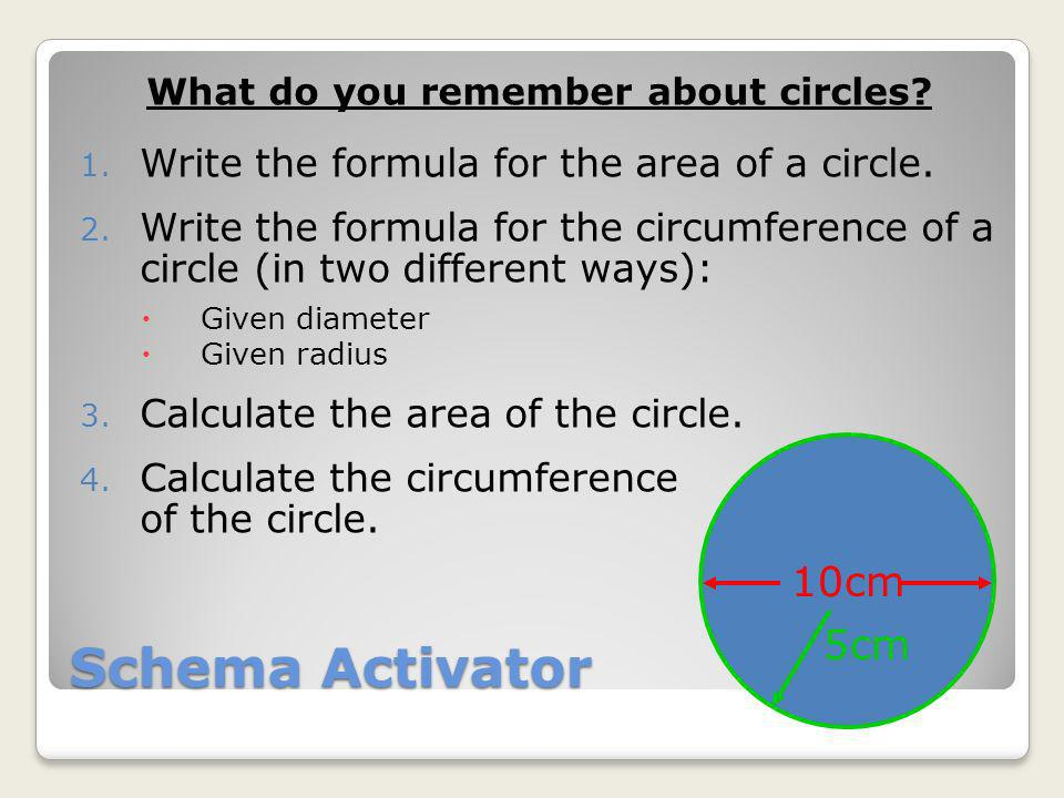 What do you remember about circles