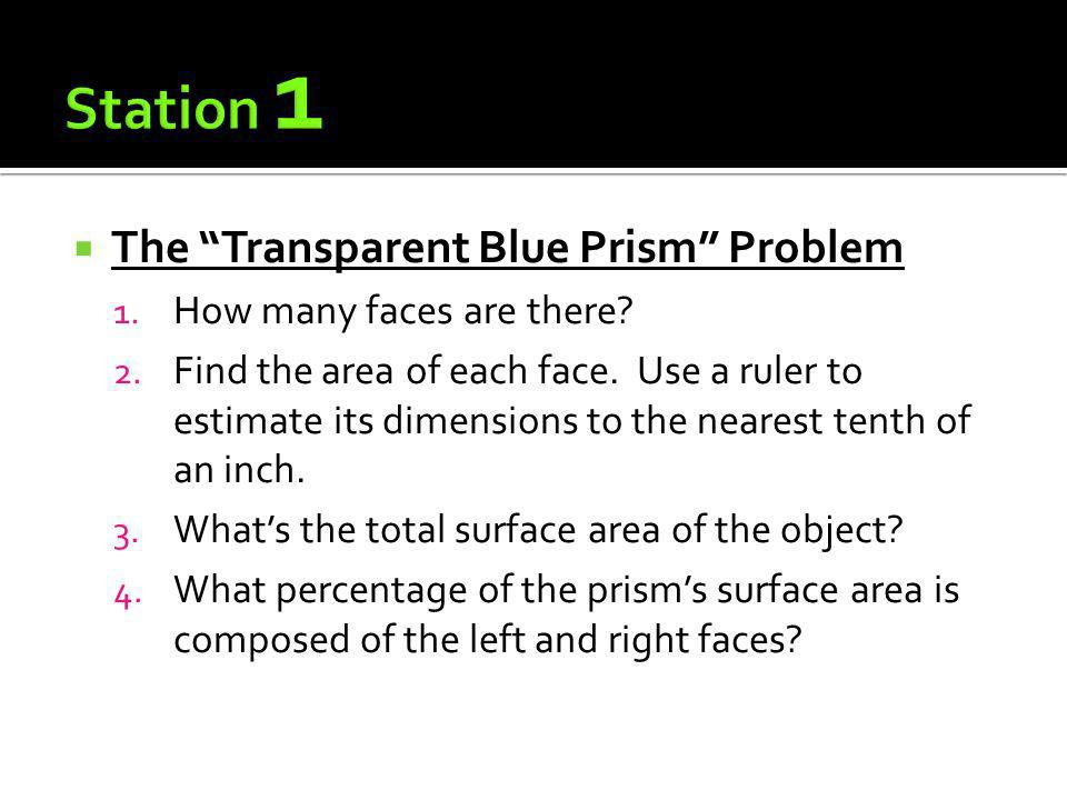 Station 1 The Transparent Blue Prism Problem