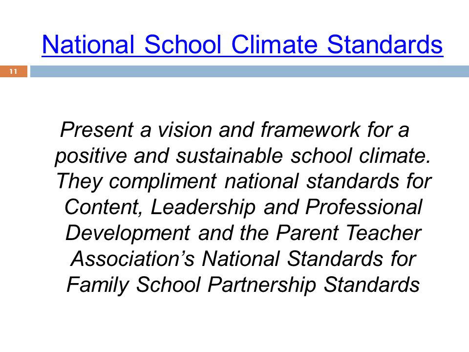 National School Climate Standards