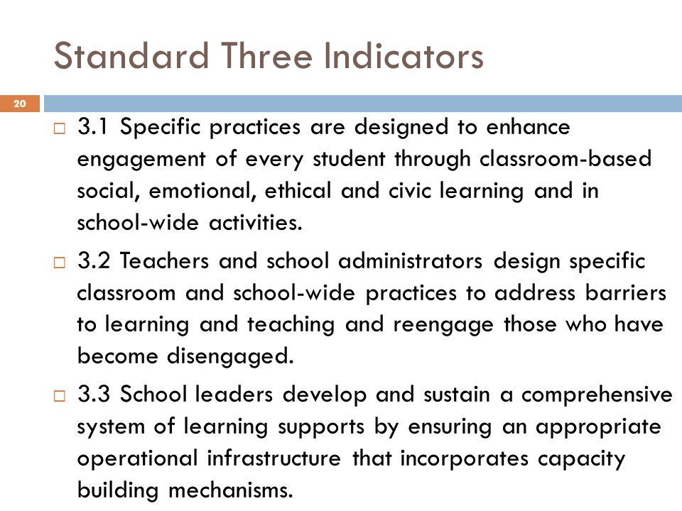 Standard Three Indicators