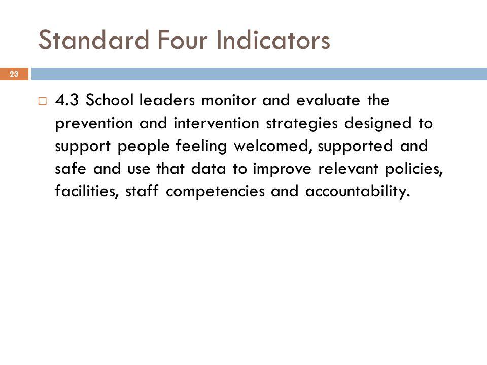 Standard Four Indicators