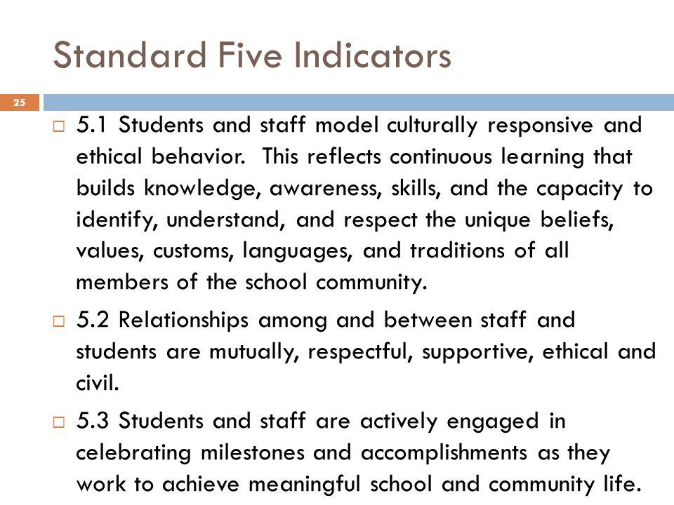 Standard Five Indicators