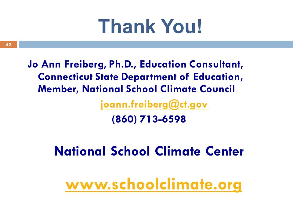 National School Climate Center