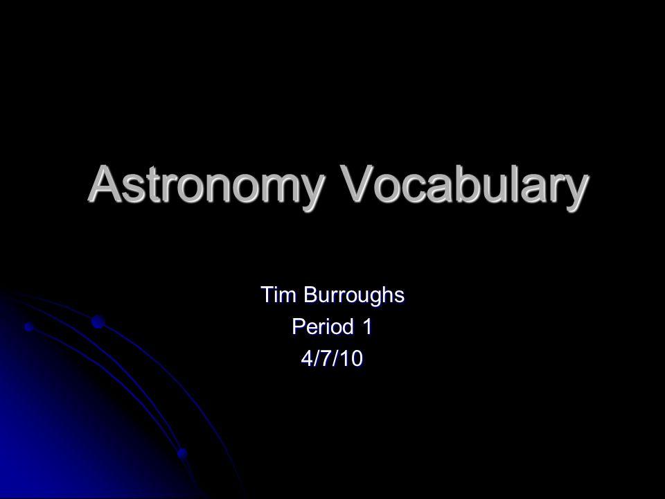 Tim Burroughs Period 1 4/7/10