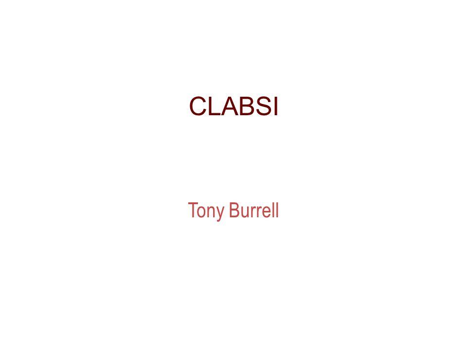 CLABSI Tony Burrell