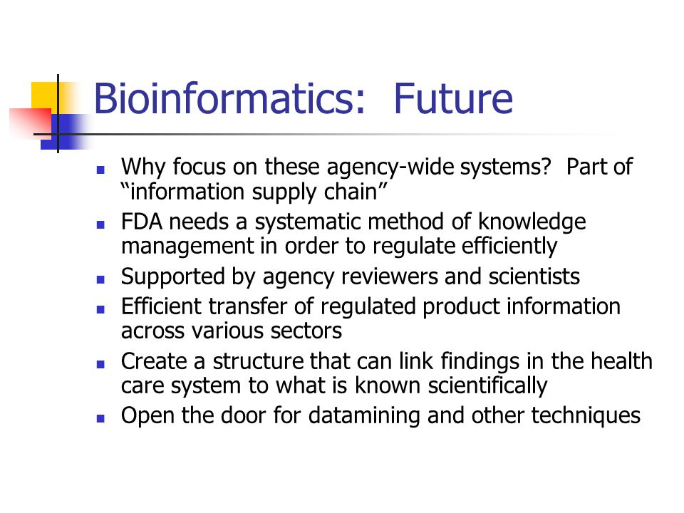 Bioinformatics: Future