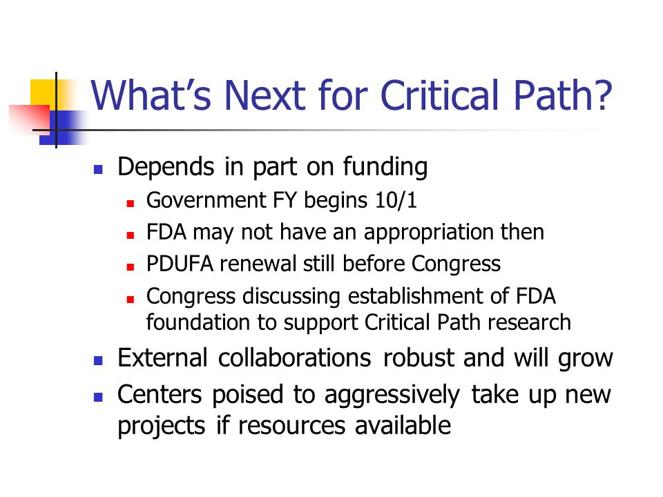What's Next for Critical Path