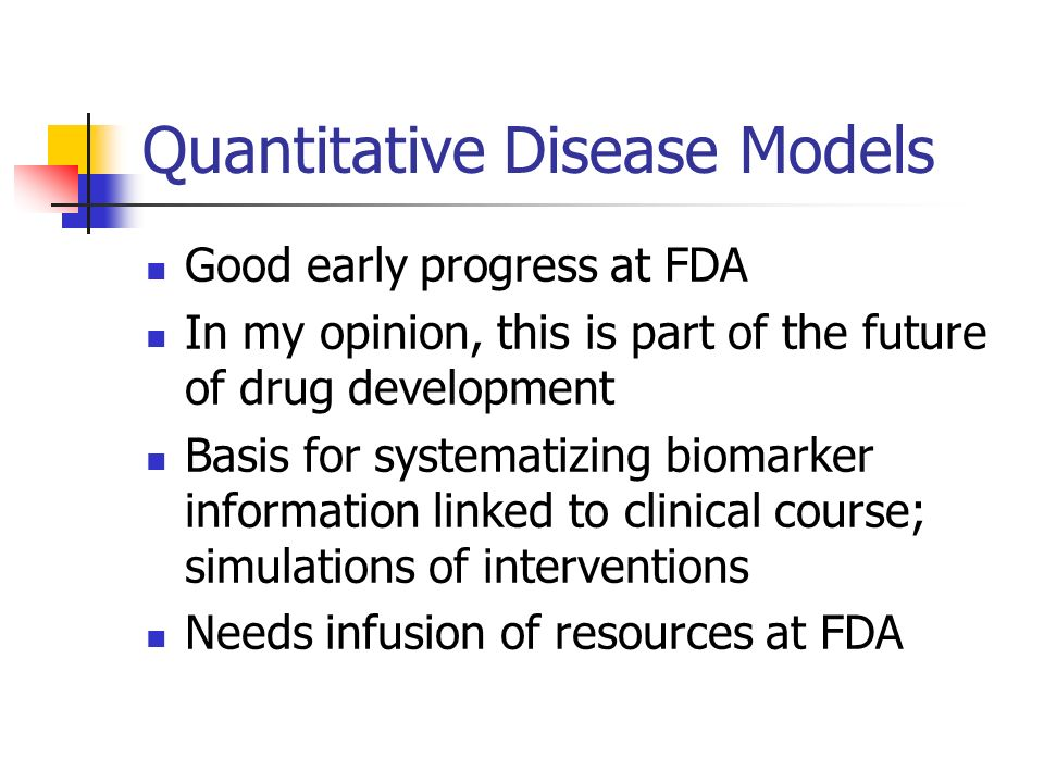 Quantitative Disease Models