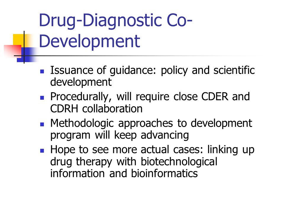 Drug-Diagnostic Co-Development