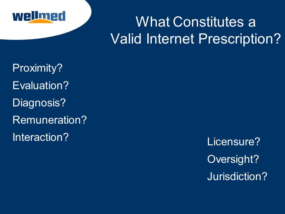What Constitutes a Valid Internet Prescription