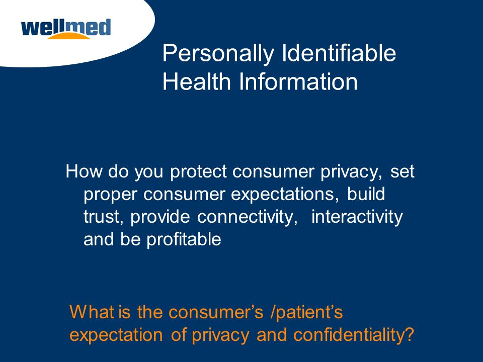 Personally Identifiable Health Information
