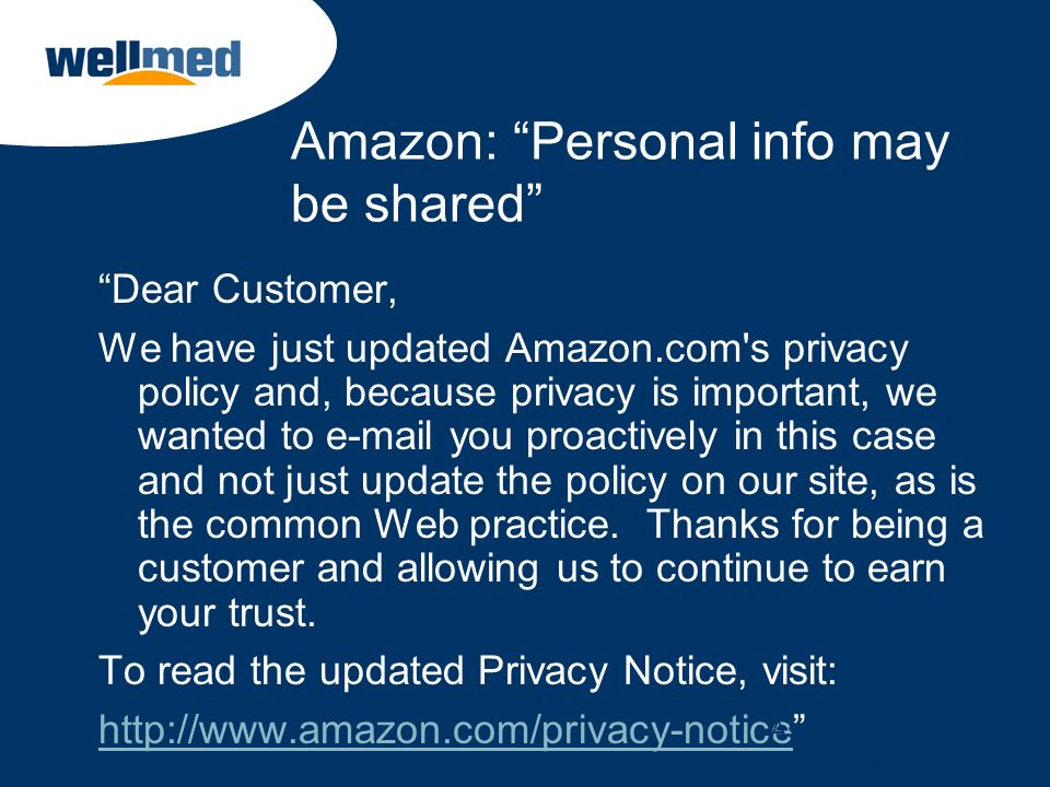 Amazon: Personal info may be shared