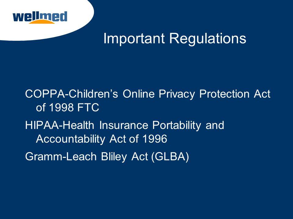 Important Regulations