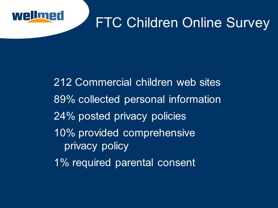 FTC Children Online Survey