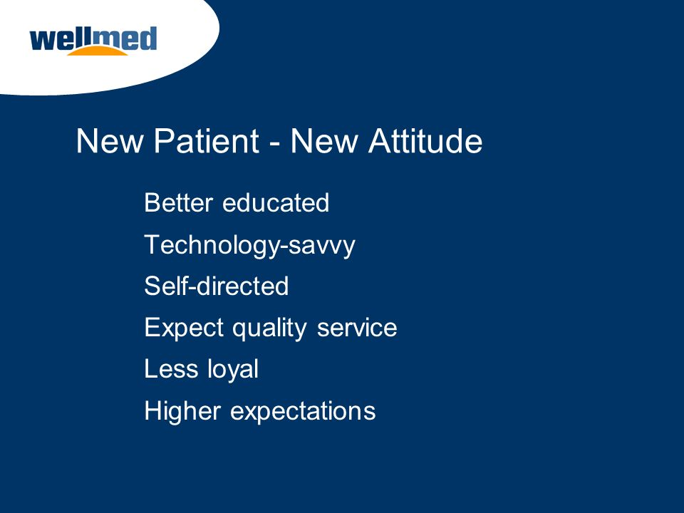New Patient - New Attitude