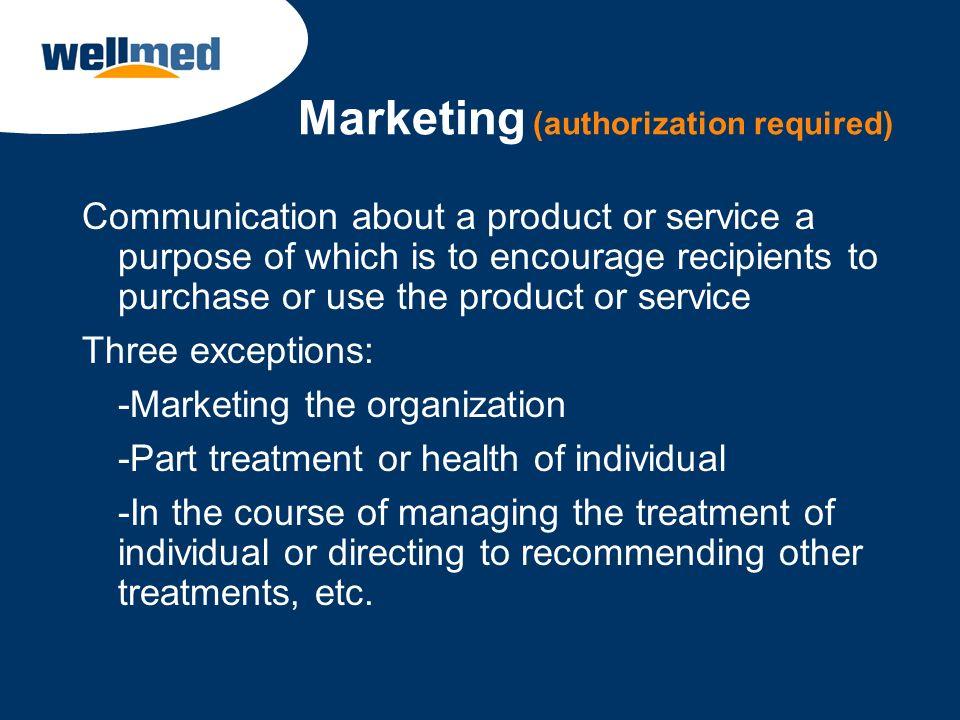 Marketing (authorization required)