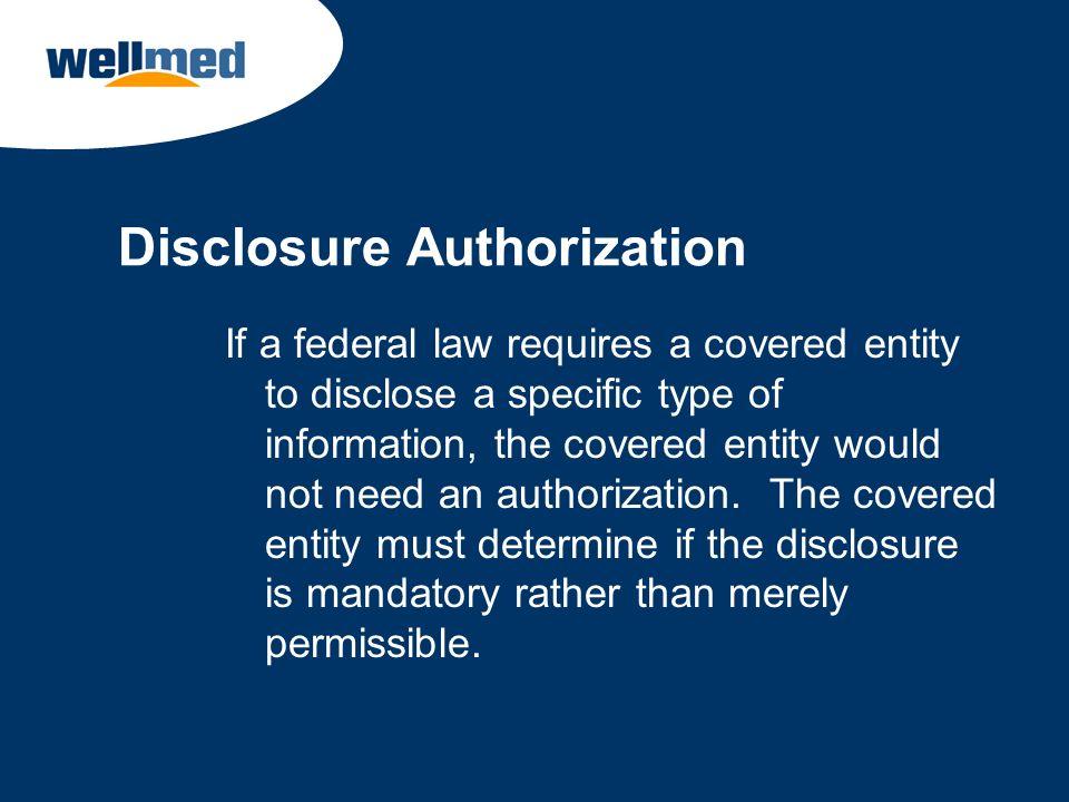 Disclosure Authorization