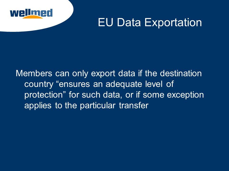 EU Data Exportation
