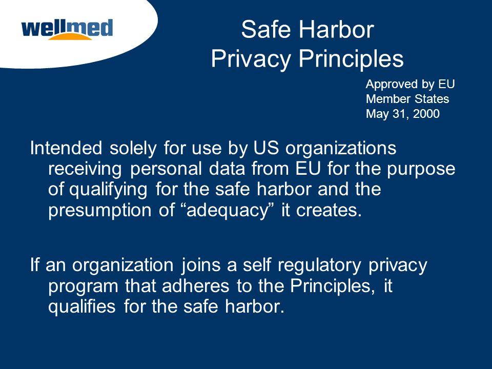 Safe Harbor Privacy Principles