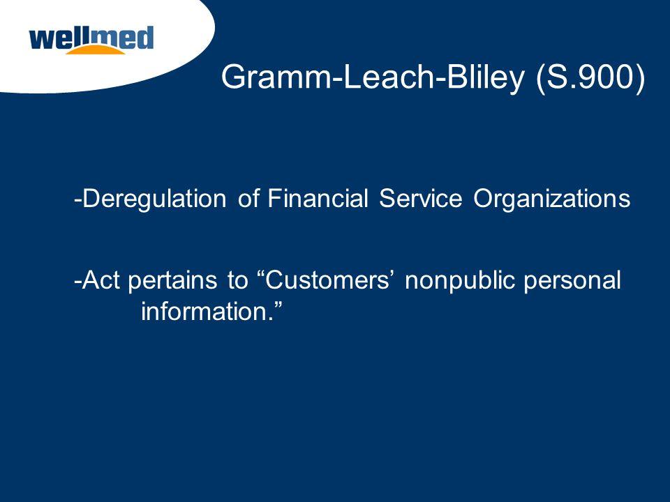Gramm-Leach-Bliley (S.900)