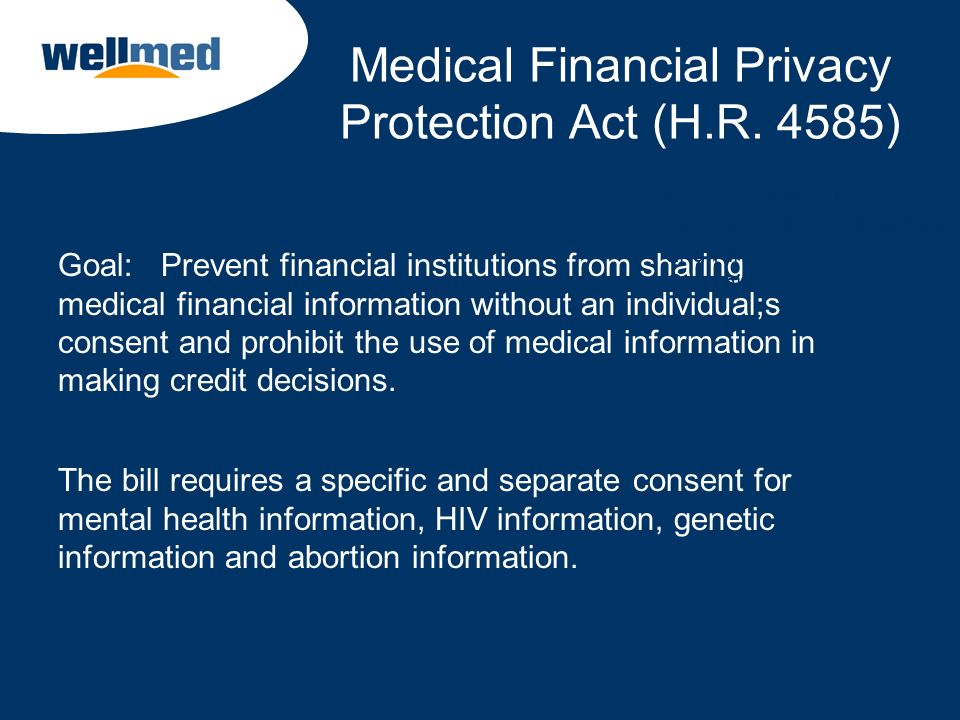 Medical Financial Privacy Protection Act (H.R. 4585)