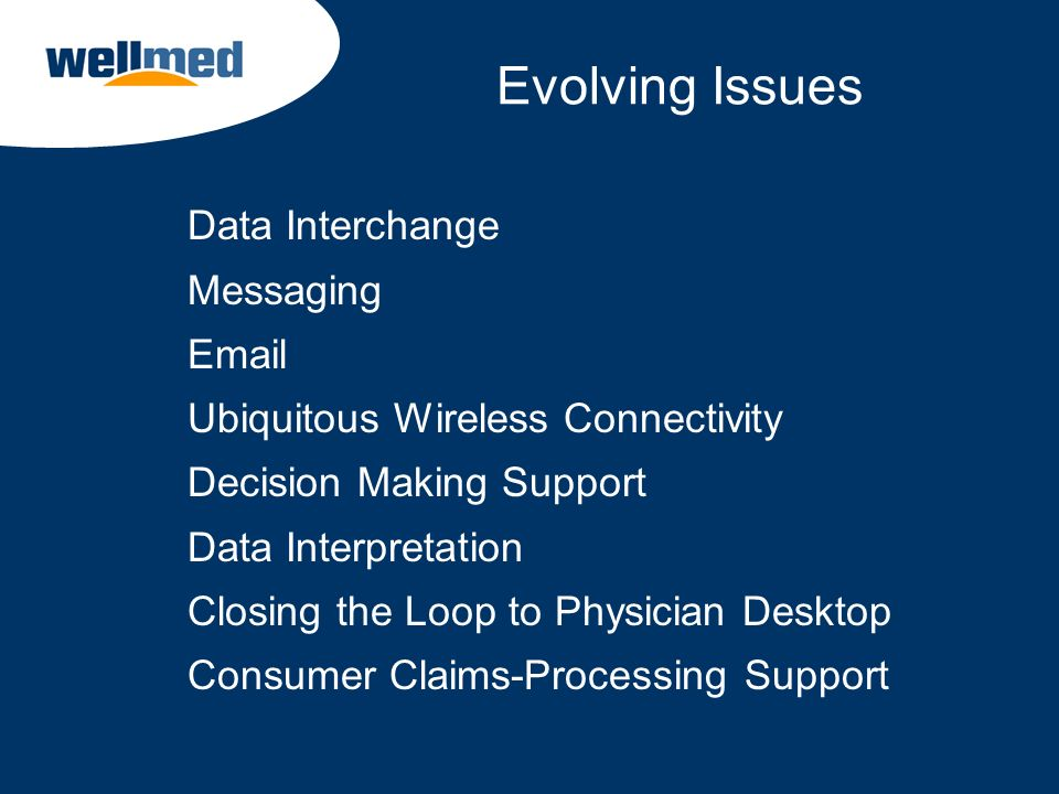 Evolving Issues Data Interchange Messaging Email