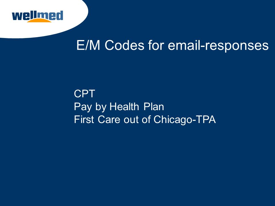 E/M Codes for email-responses