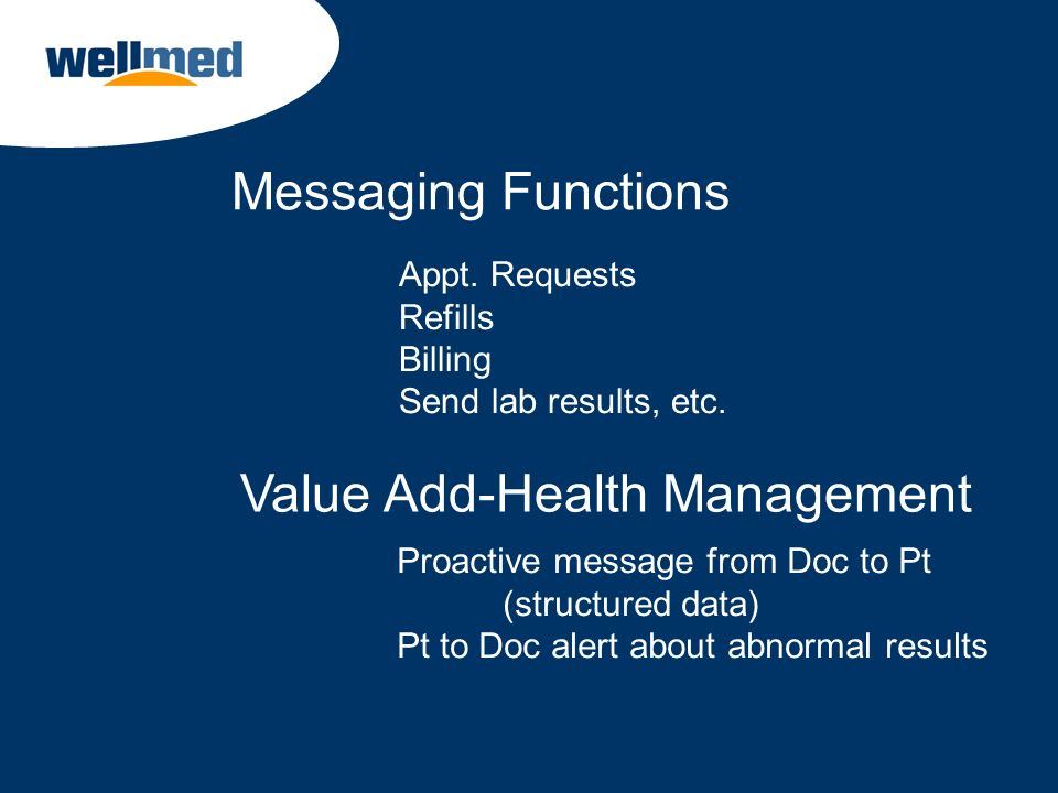 Value Add-Health Management