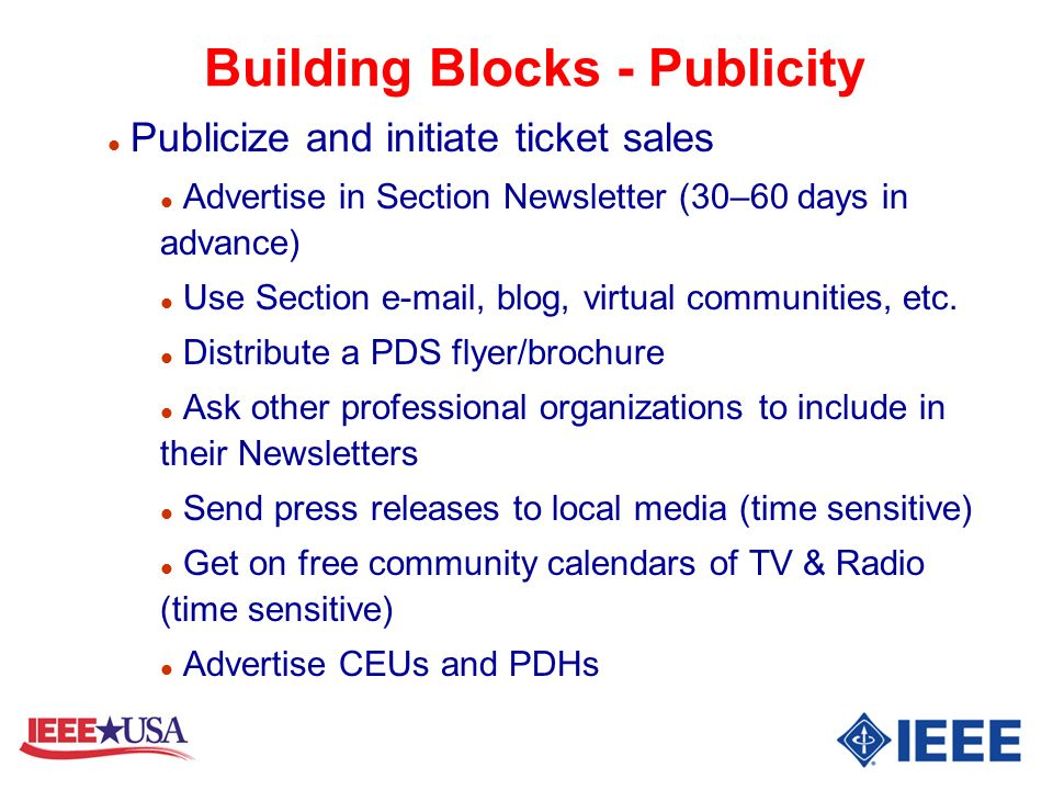 Building Blocks - Publicity