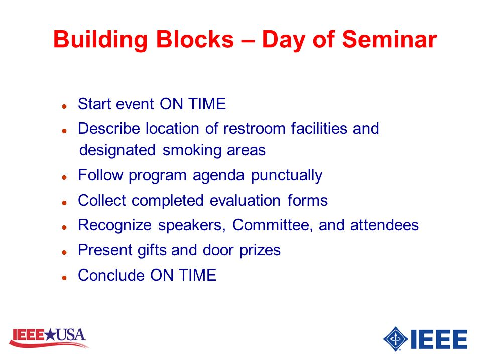 Building Blocks – Day of Seminar