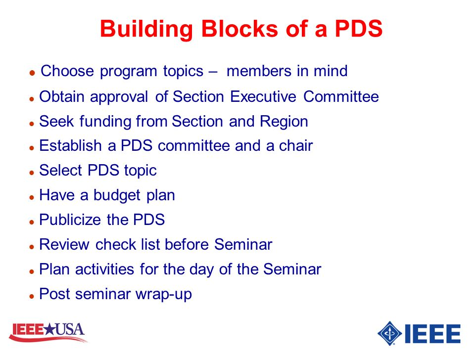 Building Blocks of a PDS