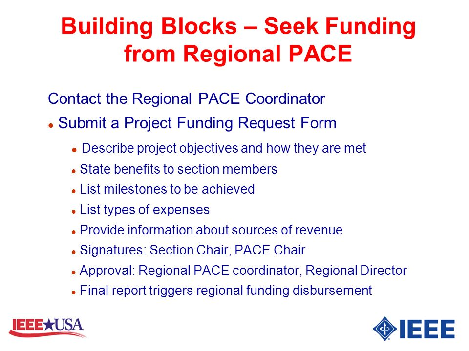 Building Blocks – Seek Funding from Regional PACE