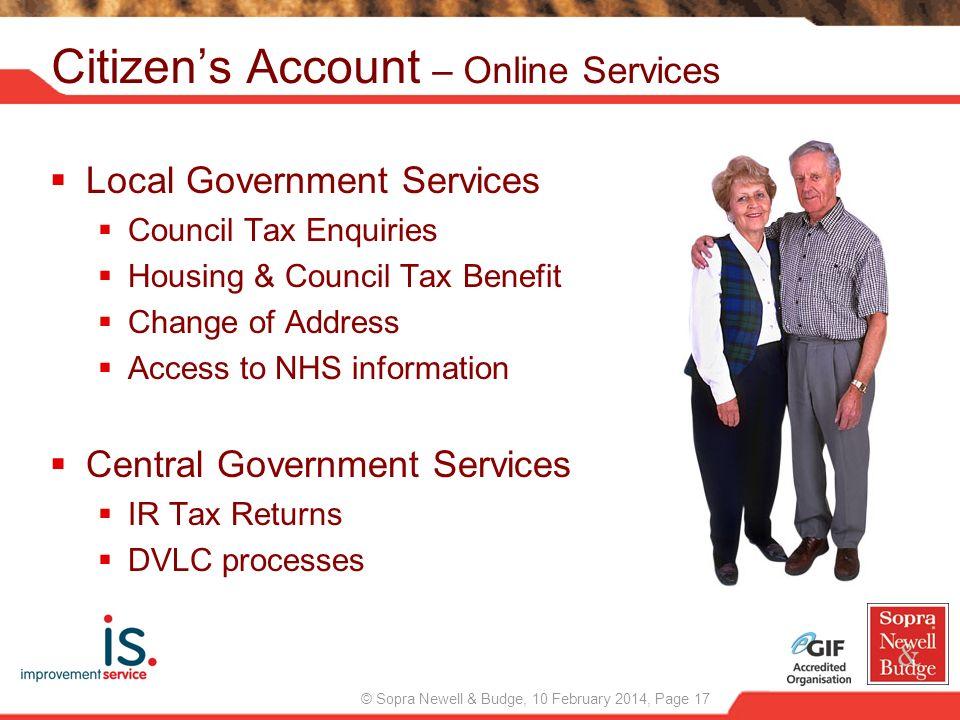 Citizen's Account – Online Services