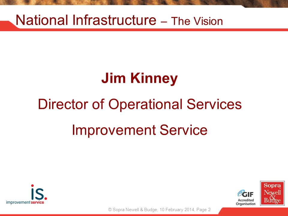 National Infrastructure – The Vision