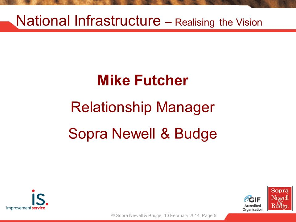 National Infrastructure – Realising the Vision