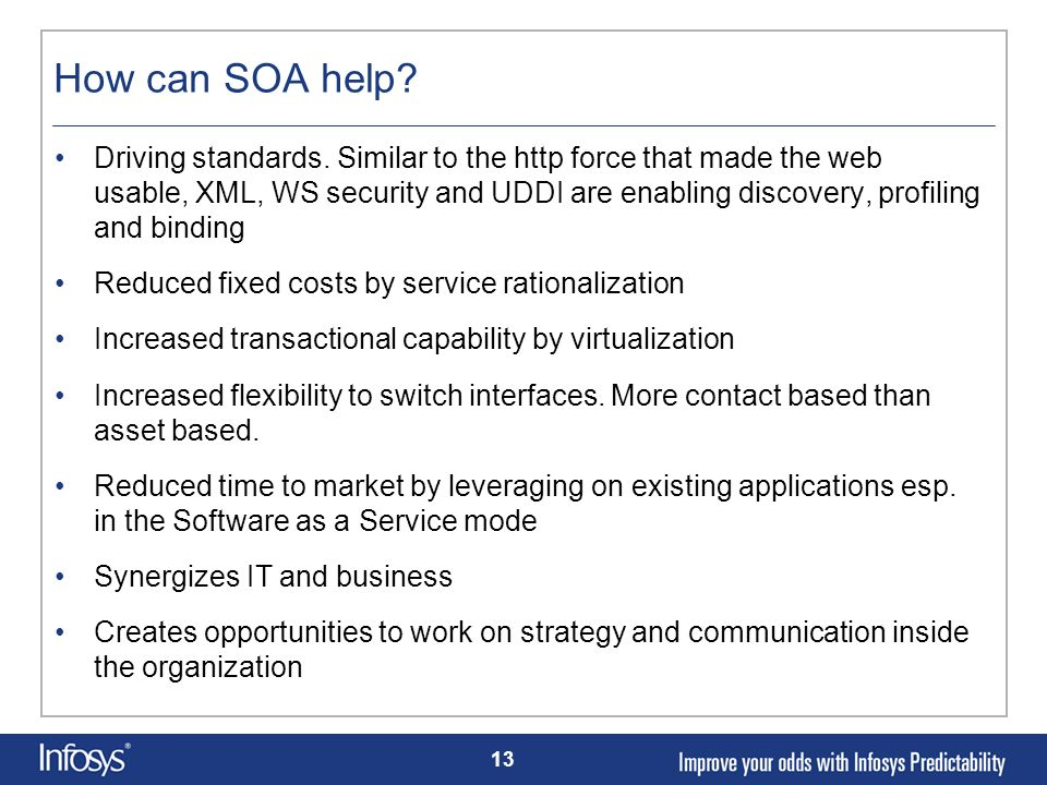 How can SOA help