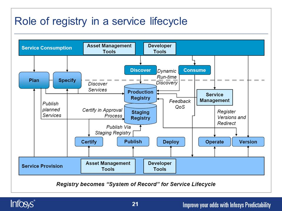 Role of registry in a service lifecycle